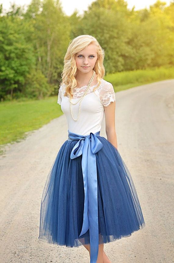 Navy Blue tutu, tulle skirt, ballet skirt, bridesmaid dress, wedding skirt