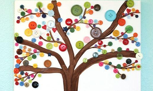 Knutselen met knopen: maak een herfstboom