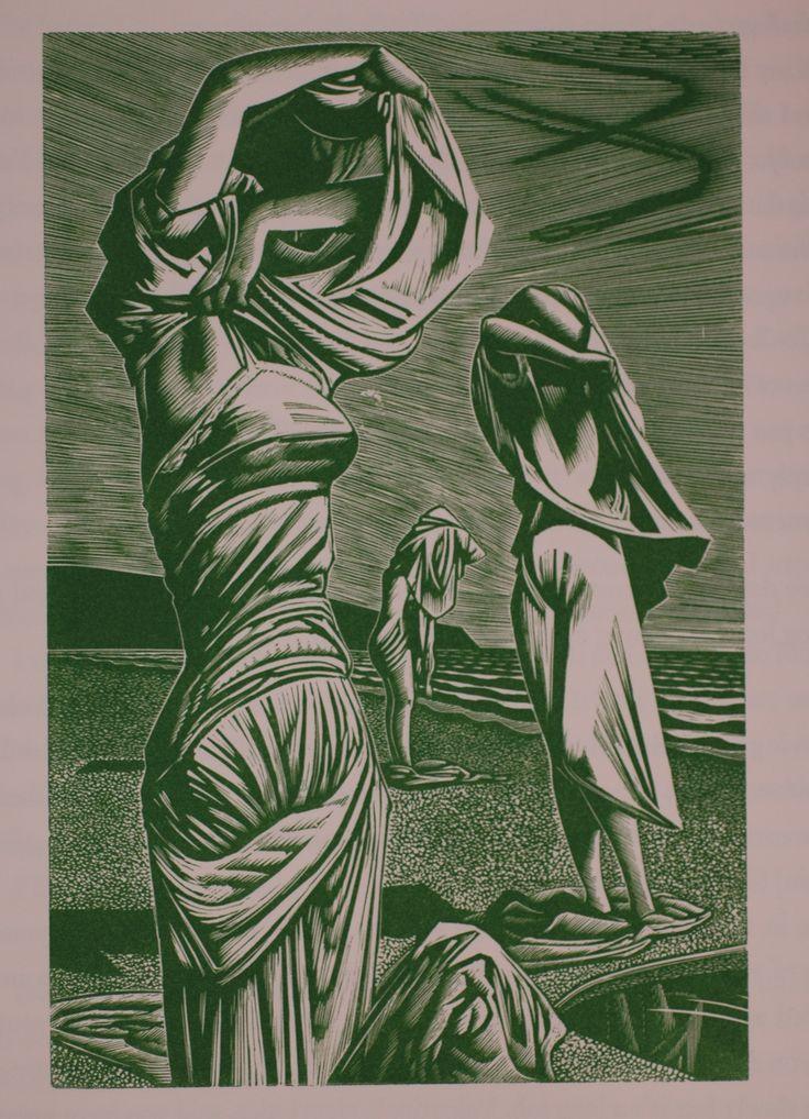 John Buckland Wright, wood #engraving via http://library.otago.ac.nz/exhibitions/jbw/
