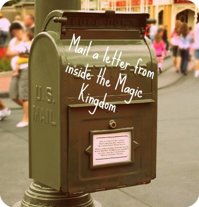 Mail a letter from inside the Magic Kingdom
