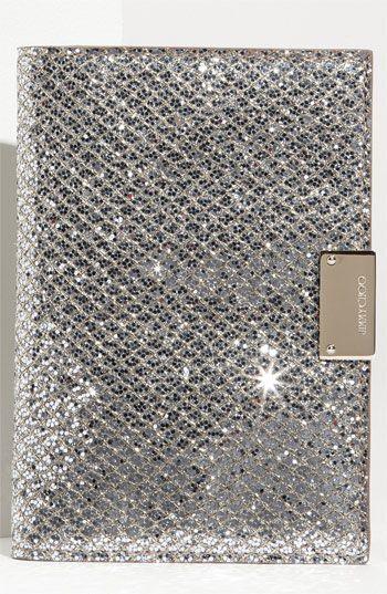 Jimmy Choo 'Reno' Fabric Passport Holder