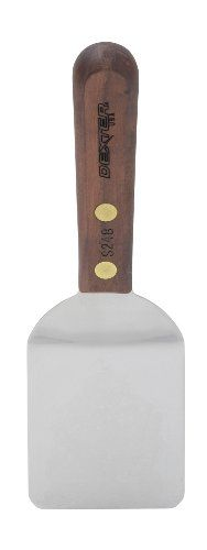 Dexter-Russell Walnut Mini Turner, Stainless Steel, 2 by-2.5-inch HIC