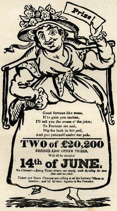 The Lotteries of Old London - On Boxing Day, traditionally the occasion for sport and gambling, it is my pleasure to publish this selection of lottery handbills from John Ashton's 'History of English Lotteries' published by the Leadenhall Press in 1893 – just in case any of my readers fancy a flutter… | Spitalfields Life