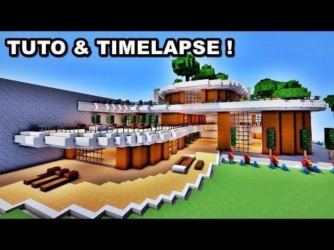Tuto Timelapse Enorme Maison De Luxe Minecraft Maison De