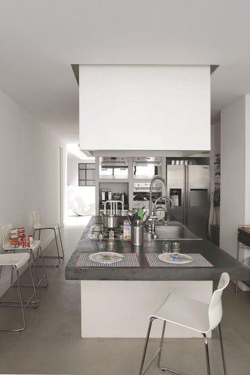 Les 25 meilleures id es concernant faux plafond cuisine for Hotte de cuisine plafond