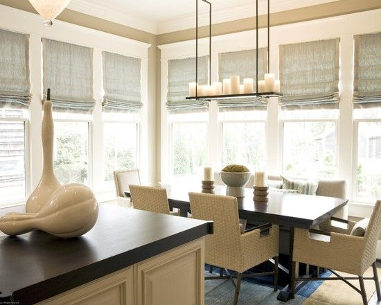 Roman Shades -- soft and casual: Romans Blinds, Ideas, Lights Fixtures, Romans Shades, Window Shades, Kitchens Window Treatments, Windows, Roman Shades, Brian Watford