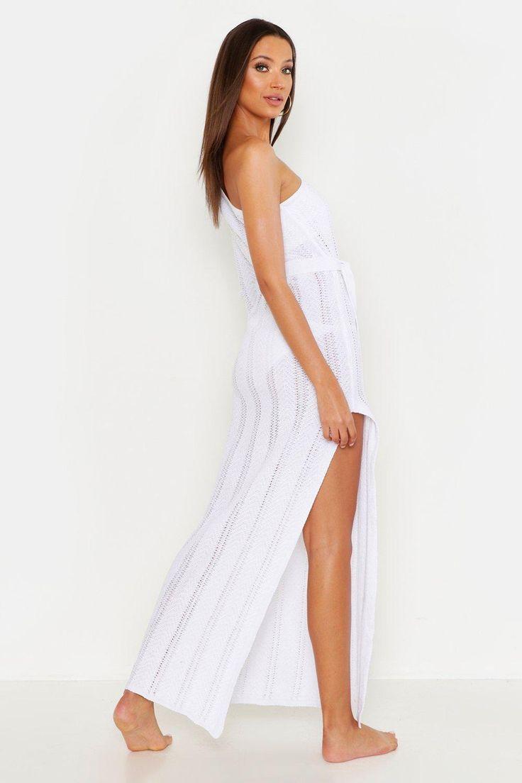 Beach Dress Knitted One Shoulder Dress Beach Shoulder Tall White Womens Womens Tall One Shoulder Knitted Beach Dress Dresses White Dress Beach Dress [ 1104 x 736 Pixel ]