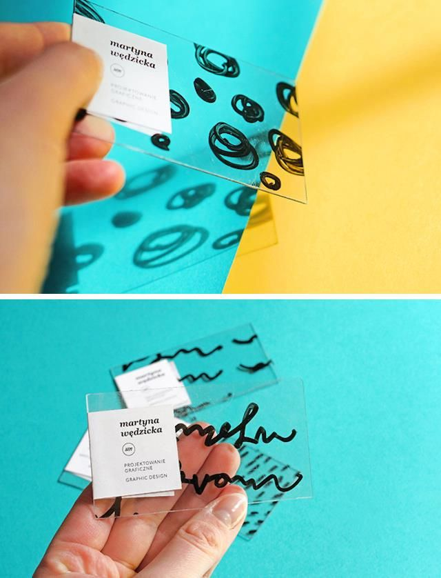 perspex business card