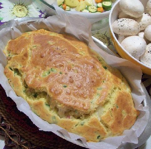 plumcake salato con zucchine, pancetta e mozzarella