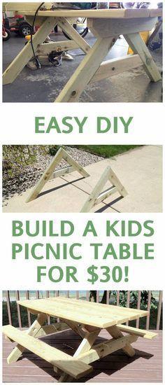 $30 DIY Kids Picnic Table Tutorial