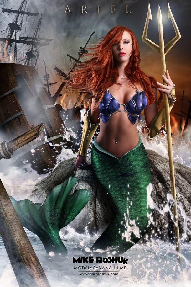 """""""Happily Ever After"""", ou les princesses Disney transformées en guerrières sexy à grand renfort de Photoshop par Mike Kuhsor… De quoi imaginer des suites un peu plus musclées !"""