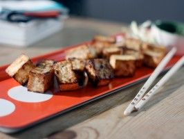 Crispy Black Pepper Tofu Bites from CookingChannelTV.com