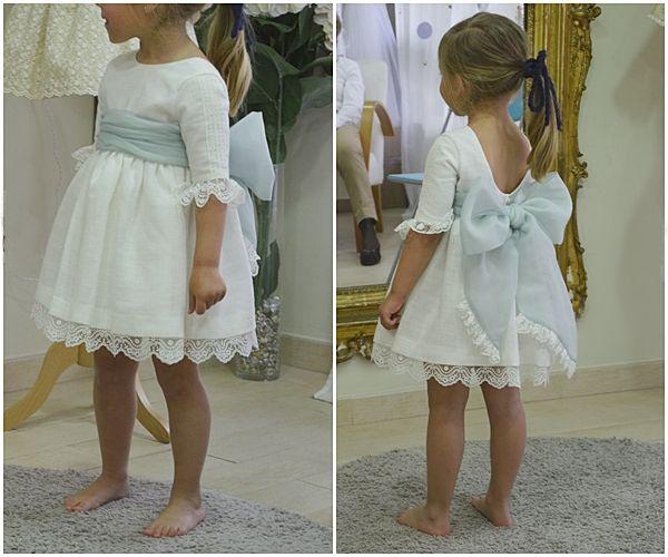 Hay niñas que nacen con elegancia natural... Esta pequeña cliente nos lo demostró en la prueba de su vestido #LeonorySofía ✨ http://blog.leonorysofia.com/?s=bodas