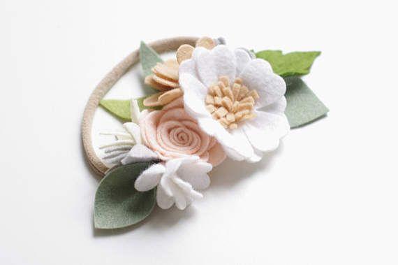Woodland small flower crown felt flower crown/ felt