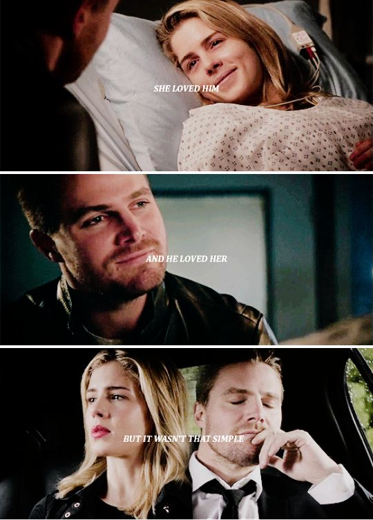 She loved him And he loved her But it wasn't that  simple #Olicity