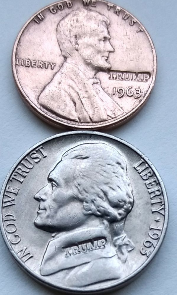 1963 TRUMP Marla Maples Birth Year Collector COIN Political Keepsake Nickel T005