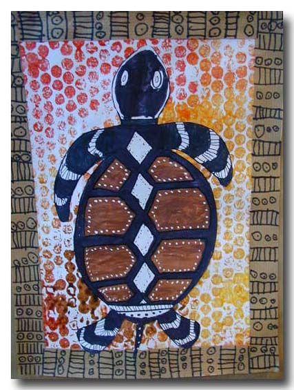 art aborigène -  Fond réalisé avec du papier bulles