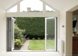 Anglian Bi-Fold doors open up your home to the garden.