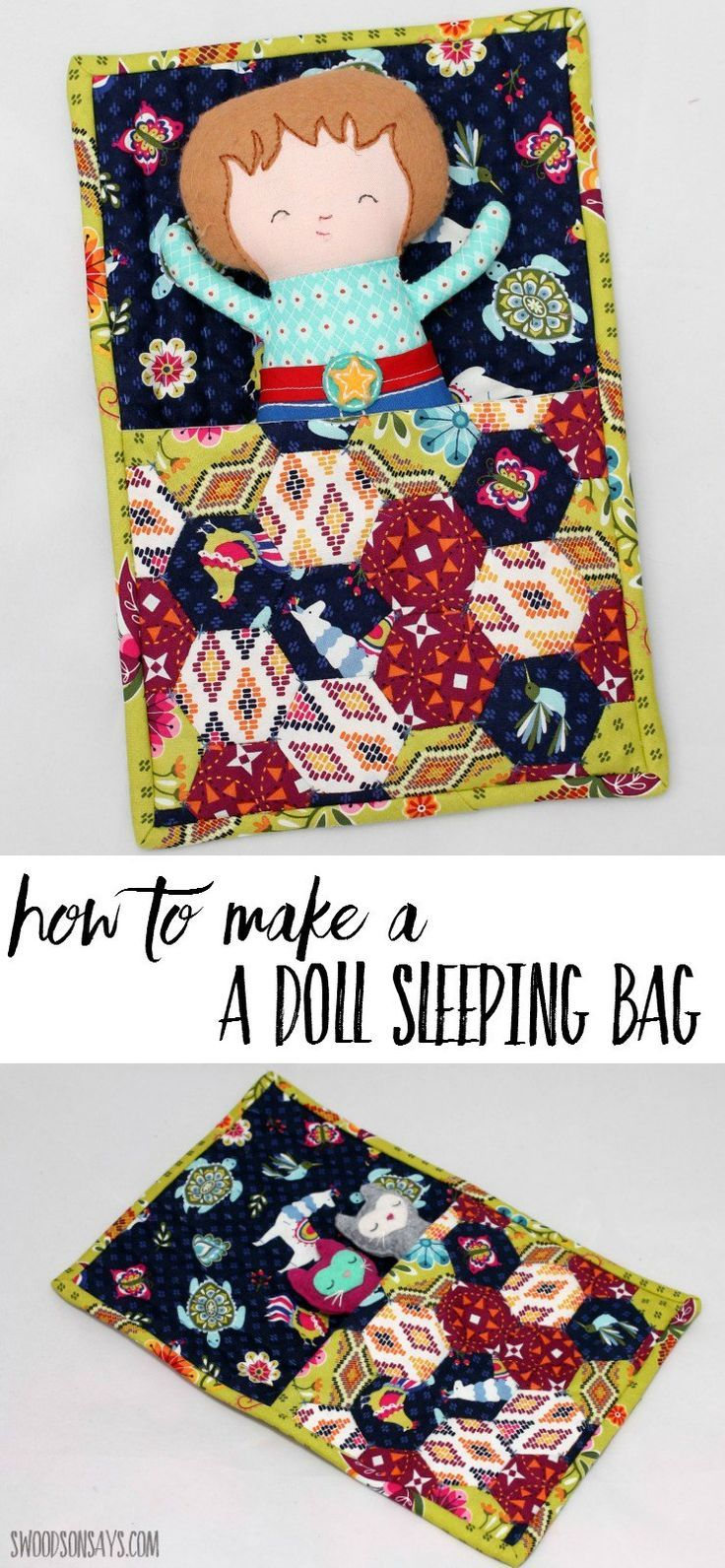How To Make A Doll Sleeping Bag Crafts Sewing Pinterest