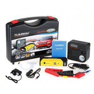 Floureon® Ghero F01 Plus 16800mAh Mini Jump Power Bank Car Starter Pack Multi-Function [] double port USB chargeur externe compresseur…