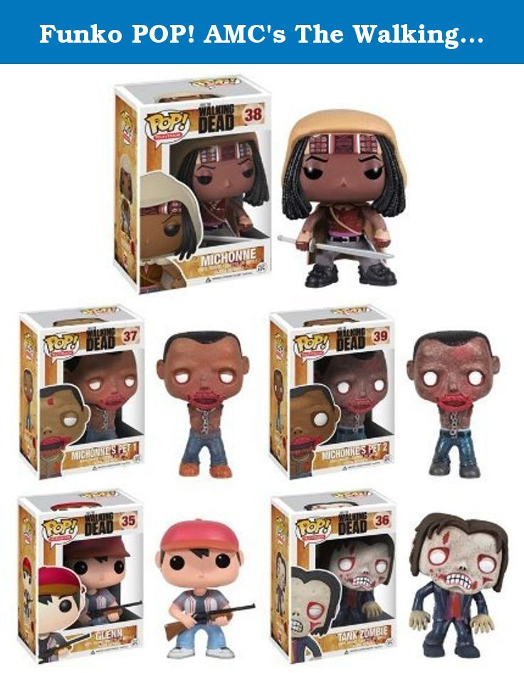 Funko POP! AMC's The Walking Dead Series 2, Complete Set of 5 (Tank Zombie, Glenn, Michonne & her Pet Zombies 1 & 2). The Walking Dead in Classic Funko POP! Style!! Episode One of Season 3 broke cable rating records for AMC with nearly 11 million viewers! Please, please, please tell me you are one of the 11 million! It's too good for you not to be! As many of you know, our Pop! line sold out within one month of receiving our first shipment!.