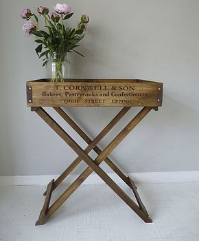 Wooden Butler's Tray Table