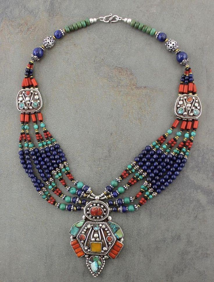 Dharmashop.com - Coral andTurquoise Tibetan Necklace, $129.00 (http://www.dharmashop.com/coral-andturquoise-tibetan-necklace/)