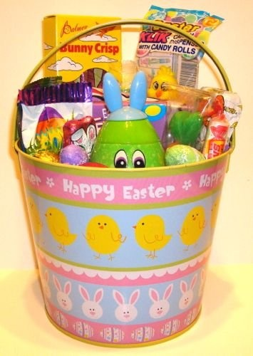 84 best gift baskets images on pinterest gift baskets easter gift basket cute easter theme pail negle Choice Image