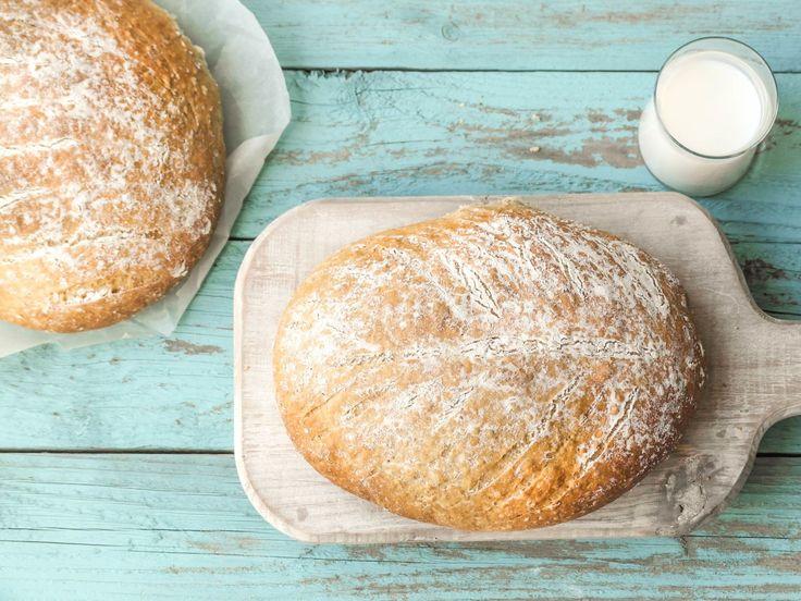 Ferskt brød er alltid godt, og dette saftige yoghurtbrødet lager lager du enkelt selv. server med favorittpålegget til frokost, lunsj eller kvelds.