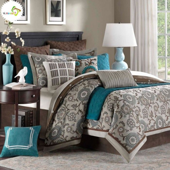 Beautiful Gray Turquoise Bedroom Ideas