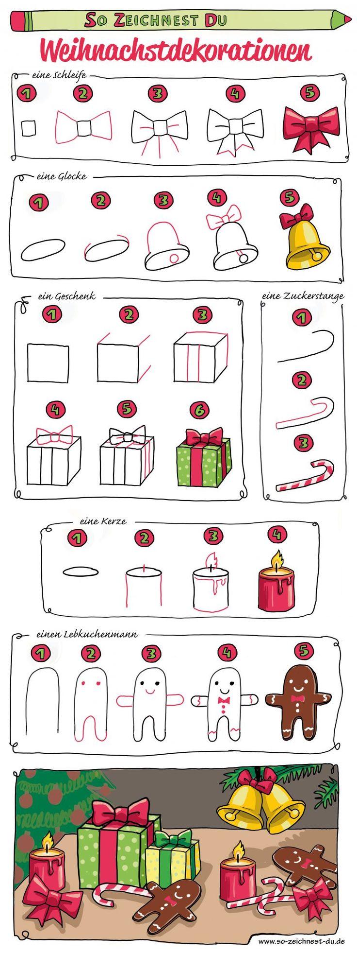 30 Xmas Ideen in 30   aquarell weihnachten, weihnachten ...