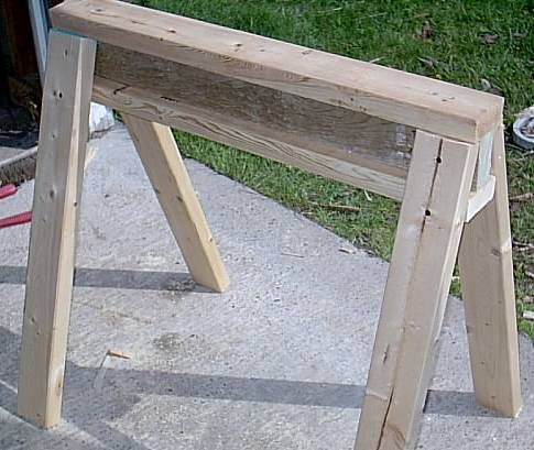Sawhorse Plans - The 14-Minute Sawhorse