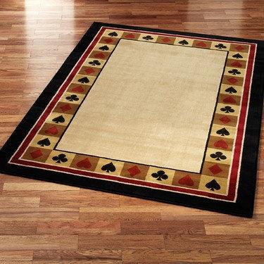Poker table rugs