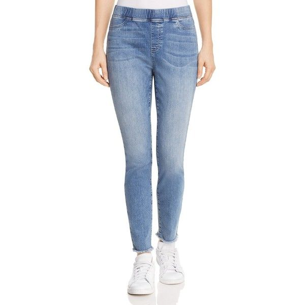 Eileen Fisher Petites Skinny Jeans in Ocean (235 AUD) ❤ liked on Polyvore featuring jeans, ocean, petite, blue skinny jeans, petite blue jeans, skinny jeans, petite skinny jeans and denim skinny jeans