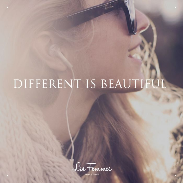 I think every person has their own identity and beauty. Everyone being different is what is really beautiful. If we were all the same, it would be boring.