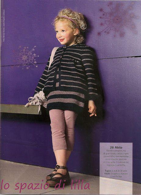 lo spazio di lilla: Bambine alla moda? Vestiamole con cardigan, abitini e cappellini lavorati a maglia...