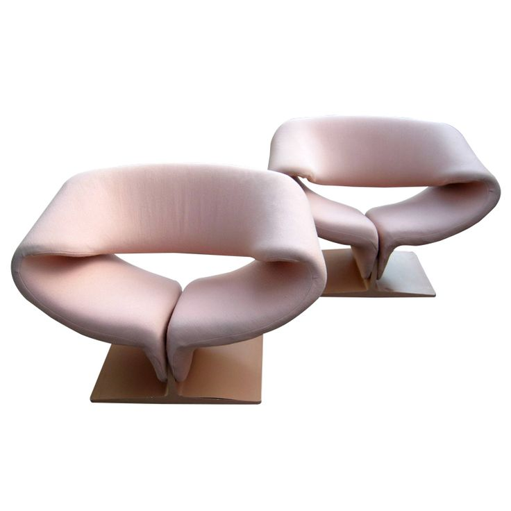 1stdibs - A Pair of Sexy Pink Vintage Artifort Ribbon Chairs by Pierre Paulin c.1970. explore items from 1,700  global dealers at 1stdibs.com