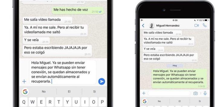 whatsapp-sin-conexion WhatsApp permite enviar mensajes sin conexión a internet