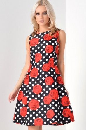 Hannah Rose Polka Dot Dress