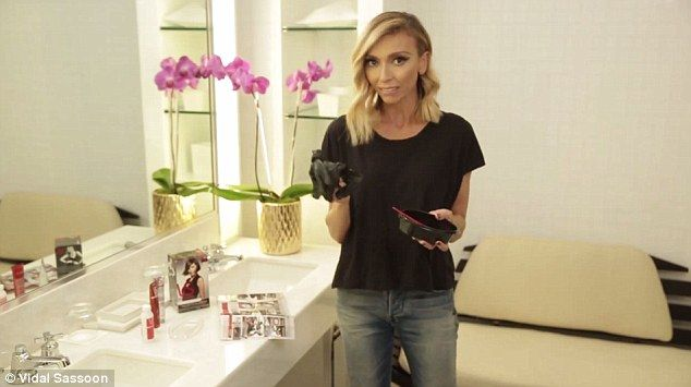 Professional appeal: The star said the pro kit and tools made her feel more at ease with h...