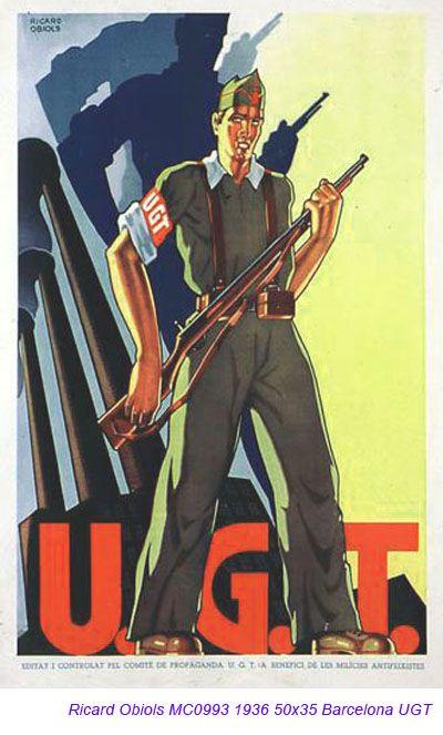 Spain - 1936. - GC - poster - autor: Ricard Obiols