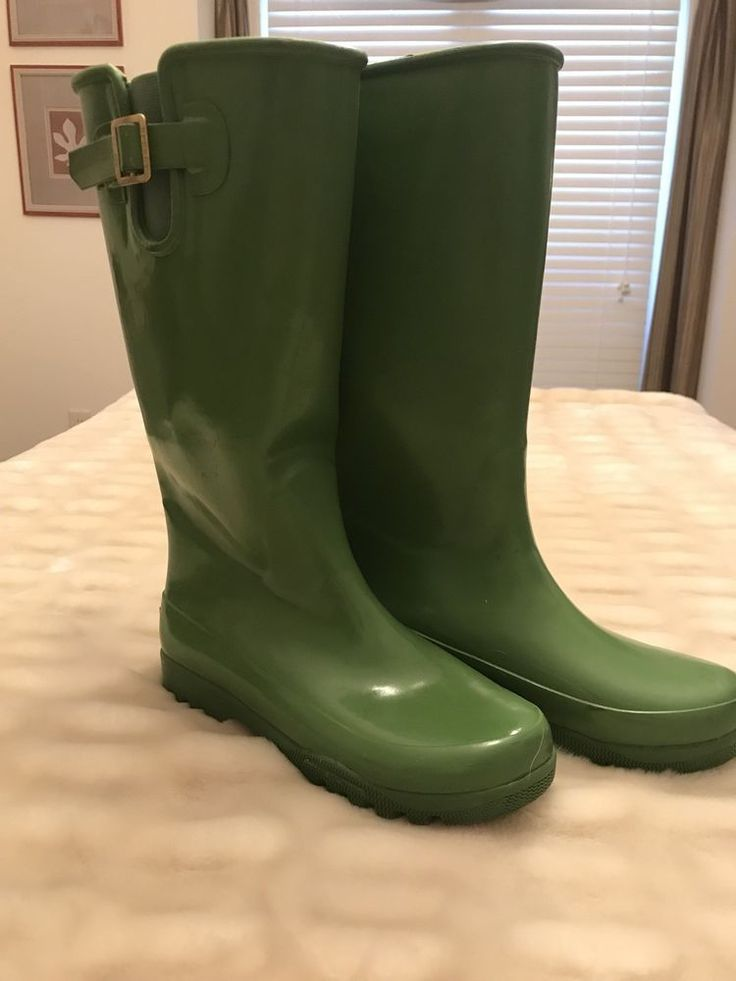 Sperry Top sider Water proof rubber rain boots lime green size 6 snow   | eBay