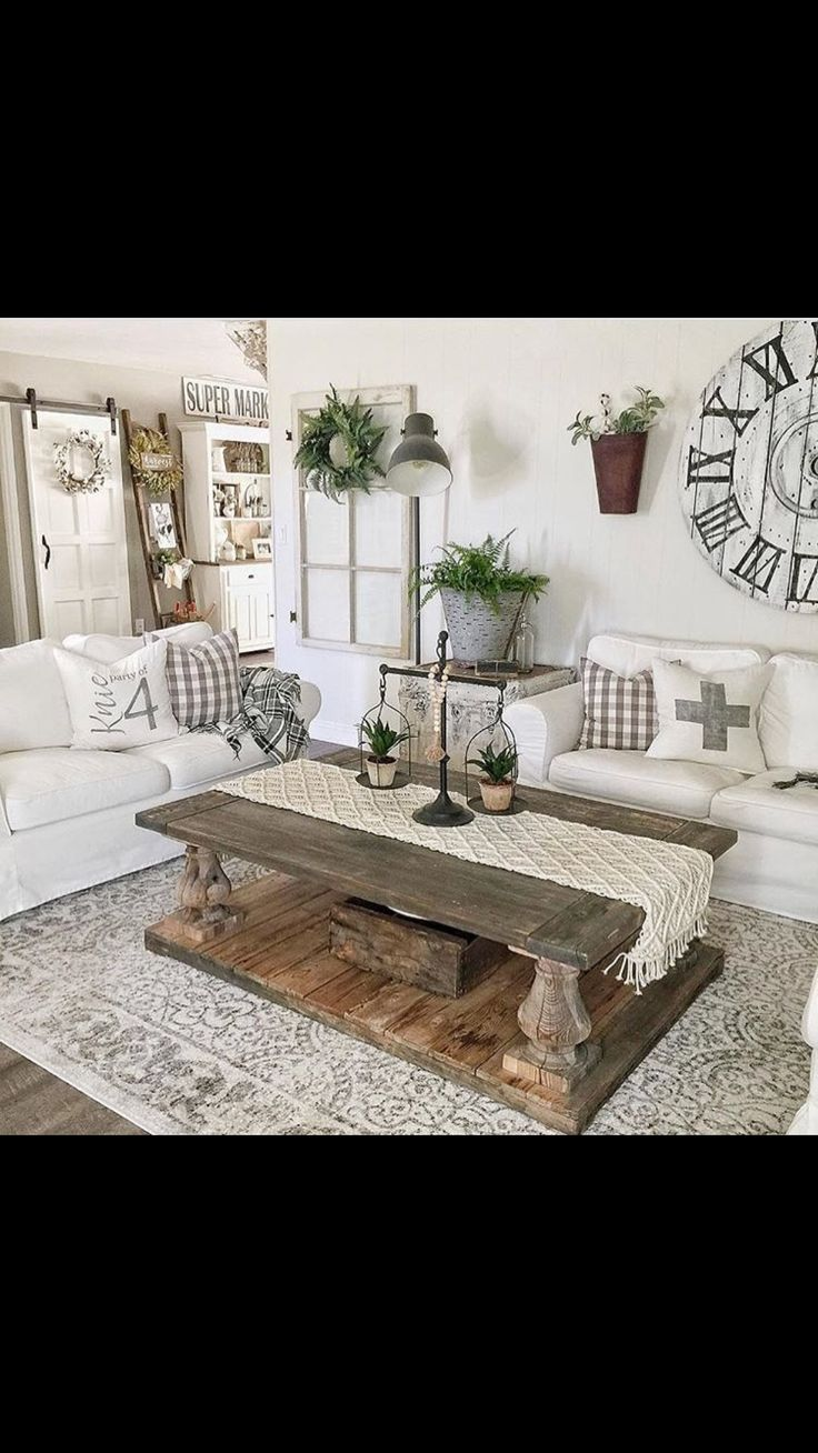 Coffee table, scales and area rug
