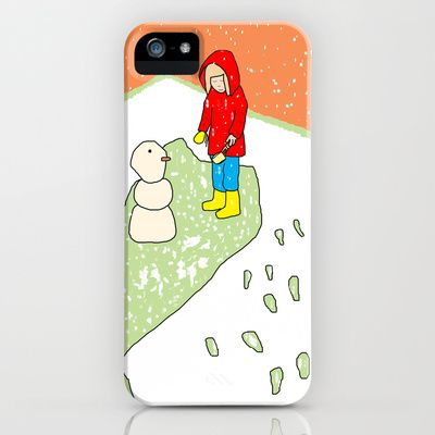 My first snowman iPhone & iPod Case by dua2por3 - $35.00