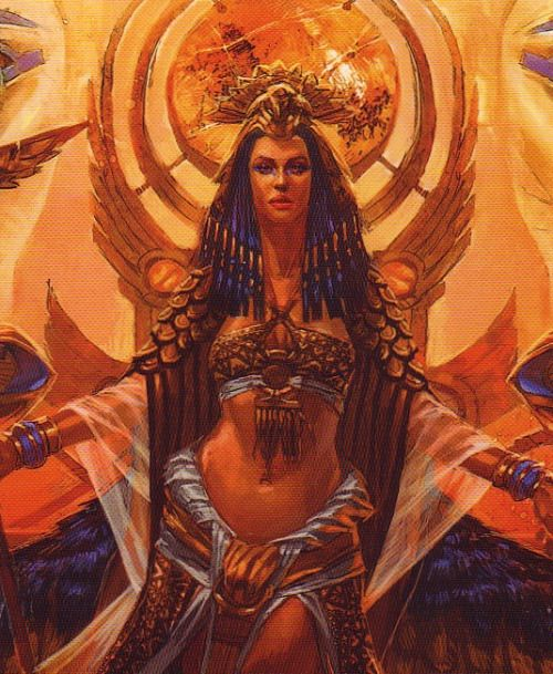 Nephthys - goddess of death, service, lamentation, nighttime and rivers; one of her roles was to protect Hapy, one of the four sons of Horus, as he guarded over the lungs of the deceased