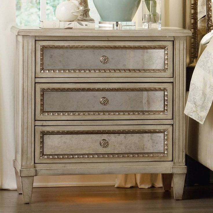 Hooker Furniture Sanctuary 3 Drawer Mirrored Nightstand | from hayneedle.com
