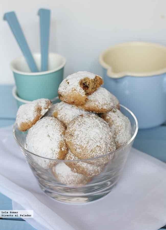 Receta de galletas de nueces y mantequilla. recetas de postres. Con fotos de presentación y del paso a paso y consejos de elaboración y de degust...