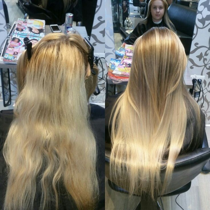 Corrective colour by using a reserve ombre techinque