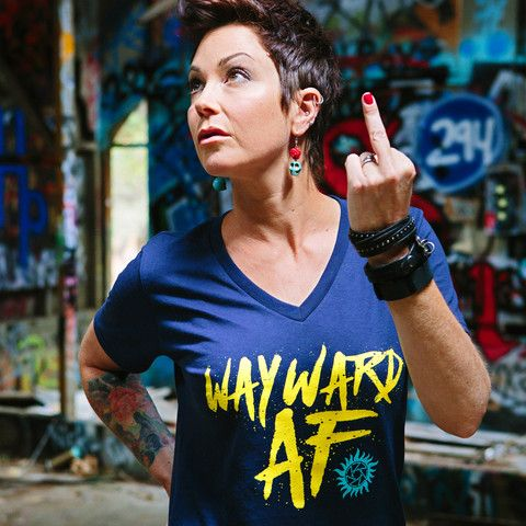 "Kim Rhodes & Briana Buckmaster ""Wayward AF"" Campaign • Creation Stands International"