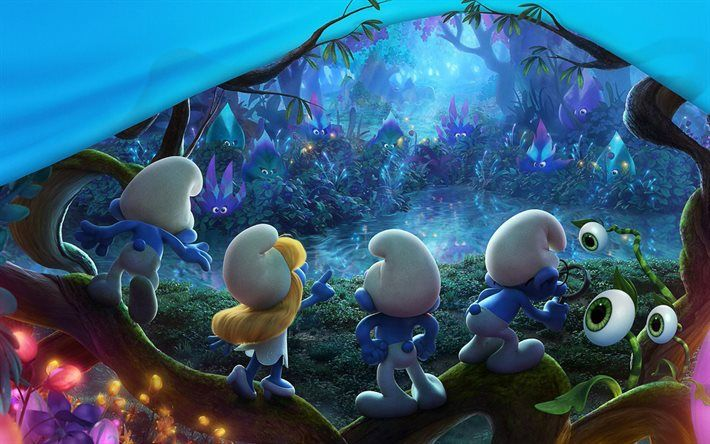 Smurfs The Lost village, poster, 2017, 3D-animation